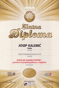 Gold Diploma in the category Rationalization, DIATUS Split